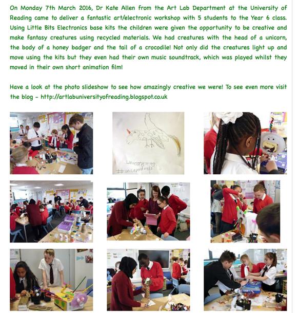 St Michael's Primary School wrokshop report