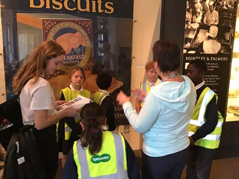 Katinka with pupils from CTK at Reading Museum.